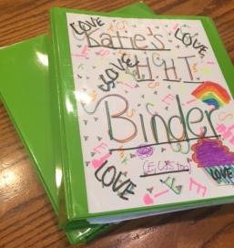 green binder